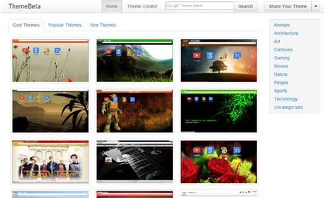themes beta chrome theme beta una gran colecci 243 n de temas gratuitos para