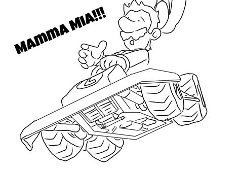 free coloring pages of mario kart wii