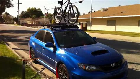 Wrx Sti Roof Rack by 2011 Subaru Wrx Roof Rack And Freeway Drive
