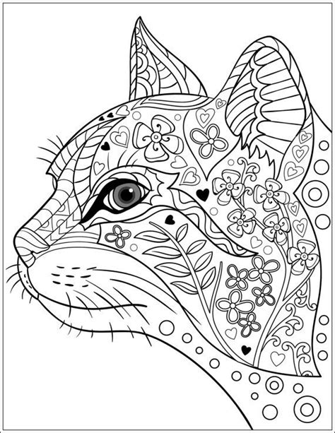 coloring pages animals patterns 629 best adult colouring cats dogs zentangles images on