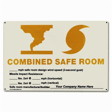 room safe severe weather rescue area fema safe room signs