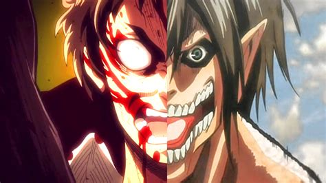 Kaos Anime Titan Rogue Eren Attack On Titan attack on titan half eren by skylordwilliam on deviantart