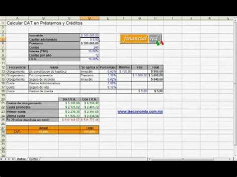 como calcular intereses moratorios en excel 191 c 243 mo calcular el cat con excel youtube