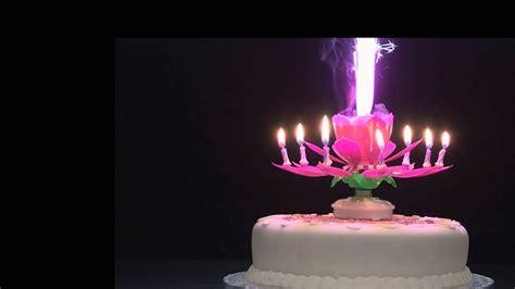 kerzenhalter blume rotating musical flower candle