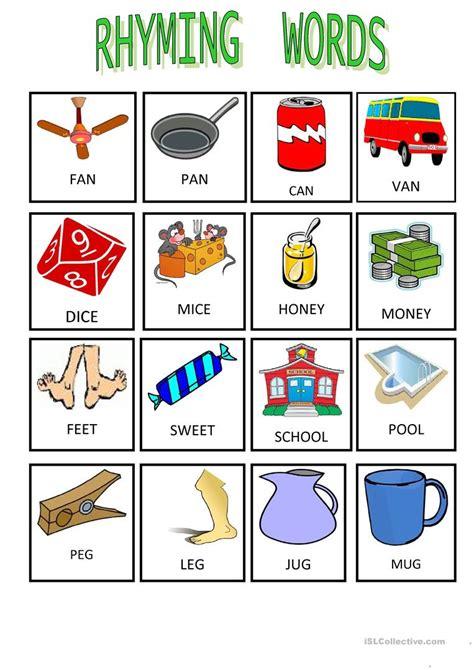 worksheet rhyming word worksheets worksheet