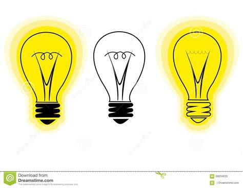 new idea stylized light bulb symbol of new idea stock vector