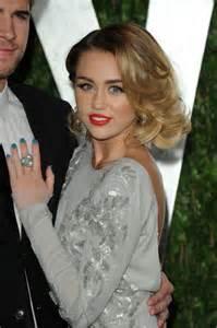 Vanity Fair Oscar Miley Cyrus Miley Cyrus At Vanity Fair Oscar Pictures