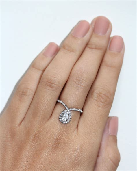 pear shaped engagement ring pear cut engagement