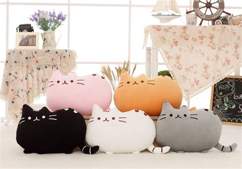Boneka Pusheen Cat Kucing Grey Abu Abu wts pusheen plush