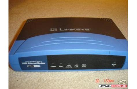 Modem Adsl Linksys linksys adsl dsl broadband modem ethernet adslme1 richmondfind list4all