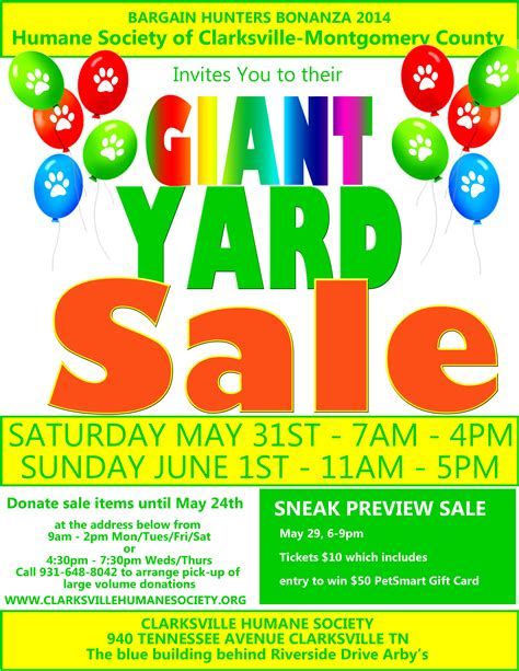 sale templates 15 free yard sale flyers of great help demplates