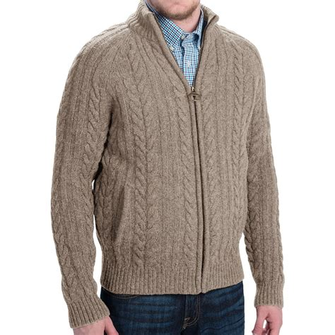 Rope Sweater barbour rope cable knit shetland wool sweater for