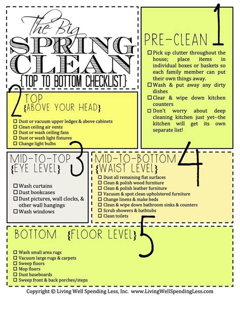 deep cleaning house awesome spring cleaning checklist cleaning pinterest