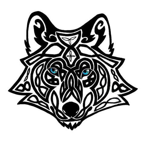 celtic wolf head tattoo design