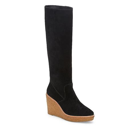 vince camuto vc signature willoo crepe wedge knee boot in