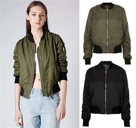 Jaket Wanitajaket Vans Bomberjaket new womens vtg bomber classic aviator sleeves retro jacket coat