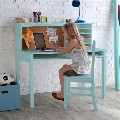 kid desk and chair set guidecraft media desk chair set teal desks at