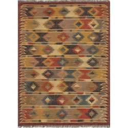 jaipur rug10028 bedouin flat weave tribal pattern jute
