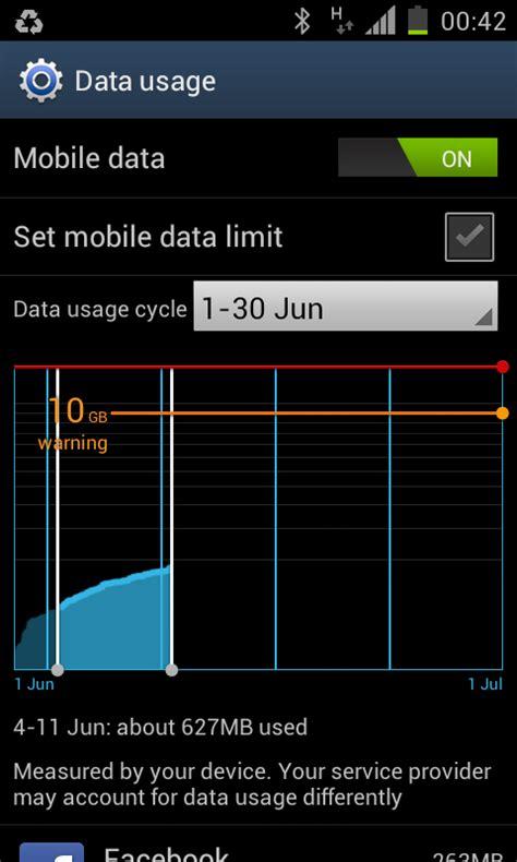 android data goondu diy check your smartphone s mobile data usage techgoondu techgoondu