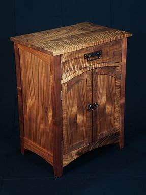 hand  custom designed arts  crafts black walnut