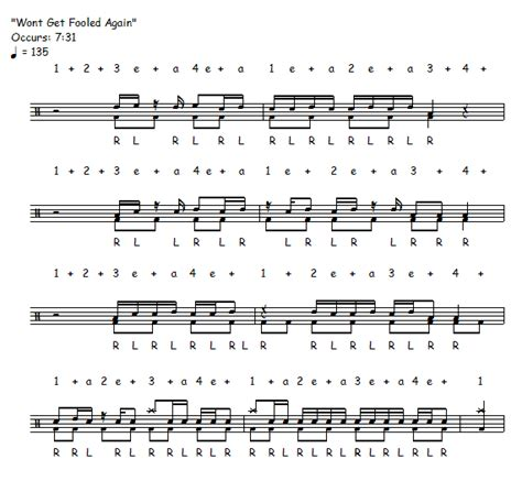 drum pattern for see you again free drum lesson quot won t get fooled again quot drum solo the