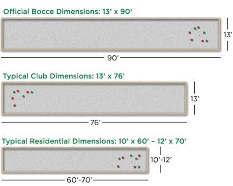 backyard bocce ball court dimensions bocce ball court dimensions is no standard or