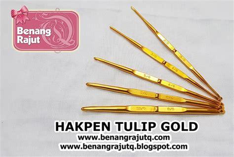 Hakpen Tulip hakpen tulip gold benangrajutq