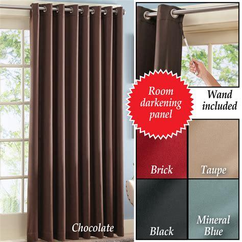 Collections Etc Gramercy Patio Door Curtain Panel Ebay Patio Door Panel Curtains
