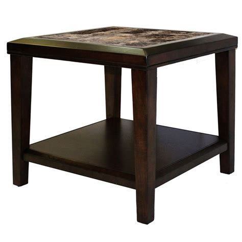 home depot side table homesullivan brown end table 403276 04 the home depot