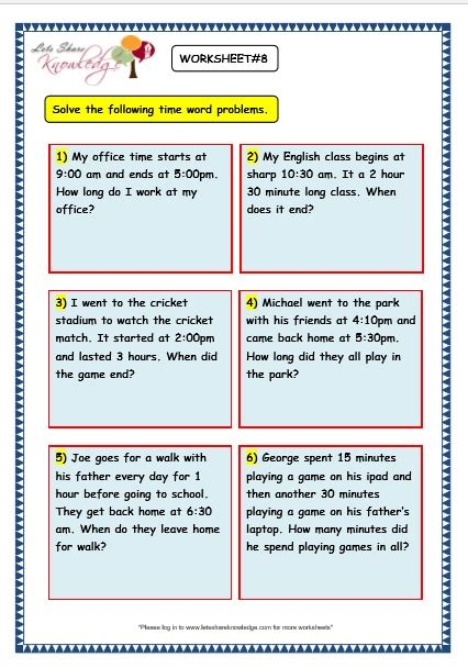 all worksheets 187 maths worksheets time word problems