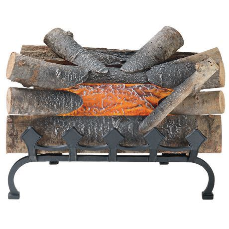 Pleasant Hearth Fireplace Grate by Pleasant Hearth 20 Inches Electric Crackling Fireplace Log