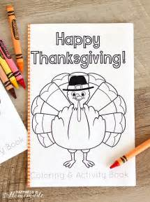 thanksgiving coloring amp activity book happiness homemade