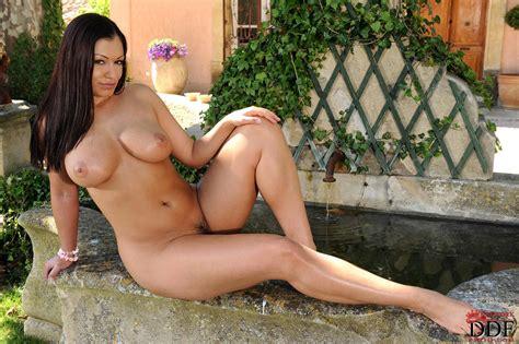 busty beauty aria giovanni posing outdoor my pornstar book