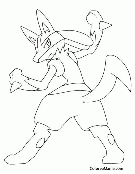 imagenes epicas de lucario colorear lucario de espaldas pokemon dibujo para