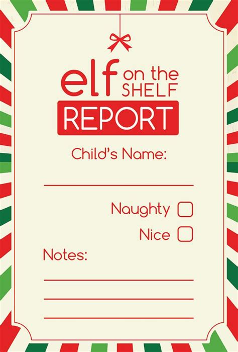 printable magic elf story elf on the shelf report digital printable