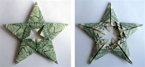 Origami Out Of Money - modular money origami from 5 bills how to fold step