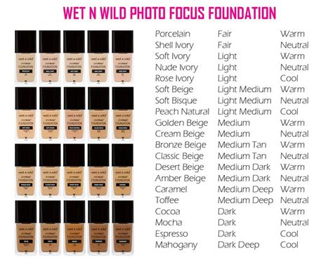 And Photo Focus Foundation Golden Beige the new n photo focus foundation comes in 20 different shades in warm cool and