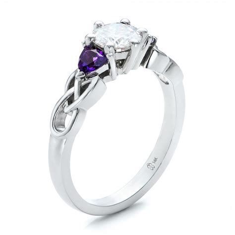 Diamond And Amethyst Wedding Rings   Jewelry Ideas
