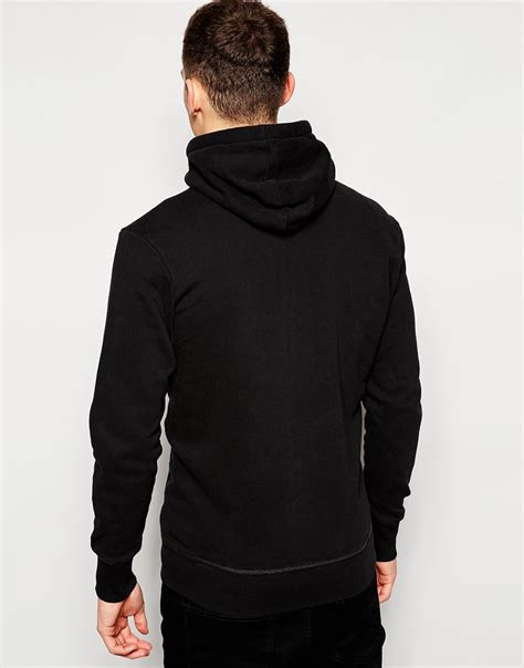 Hoodie Sweater Black Front Logo g hoodie zipthru sweatshirt gunner logo front in