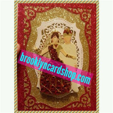 indian wedding cards etsy handmade wedding card traditional and gold gown for bengali indian muslim asian paper