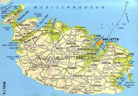 map of malta malta map holidaymapq