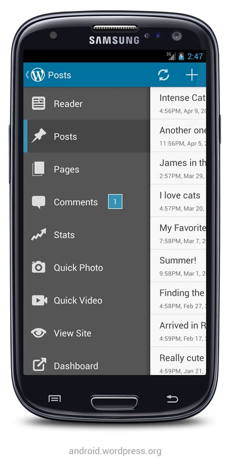 android themes version 2 3 6 wordpress com apps version 2 3 is here new user
