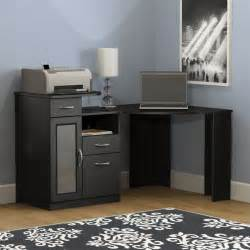 Black Corner Desk Bush Vantage Corner Home Office Black Computer Desk Ebay