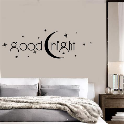 wall decal quotes for bedroom decal vinyl bedroom quote goodnight romance moon stars