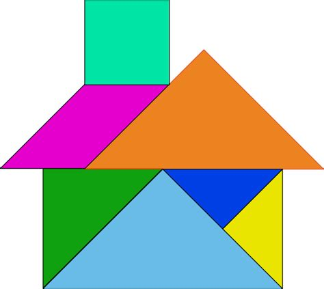 Tangram House Blocks Clip Art at Clker.com   vector clip