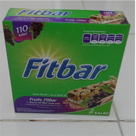 Fitbar Isi 5pcs Box jual fitbar snack camilan sehat box isi 5pcs
