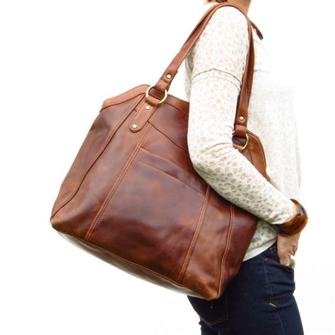 large for leather large brown leather handbag tote