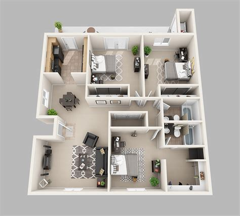 Jacobsen Manufactured Homes Floor Plans by 3d House Plans In 1200 Sq Ft Numberedtype