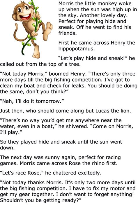 printable toddler stories 9 best kids moral stories images on pinterest english