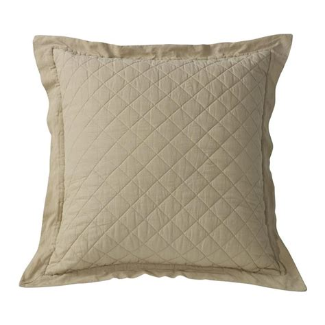Standard Pillow Sham Pattern by Linen Quilt Standard Pillow Sham 1 Khaki